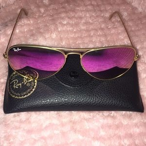 Ray-Ban Pink Aviator Sunglasses